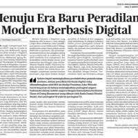 MENUJU ERA BARU PERADILAN MODERN BERBASIS DIGITAL